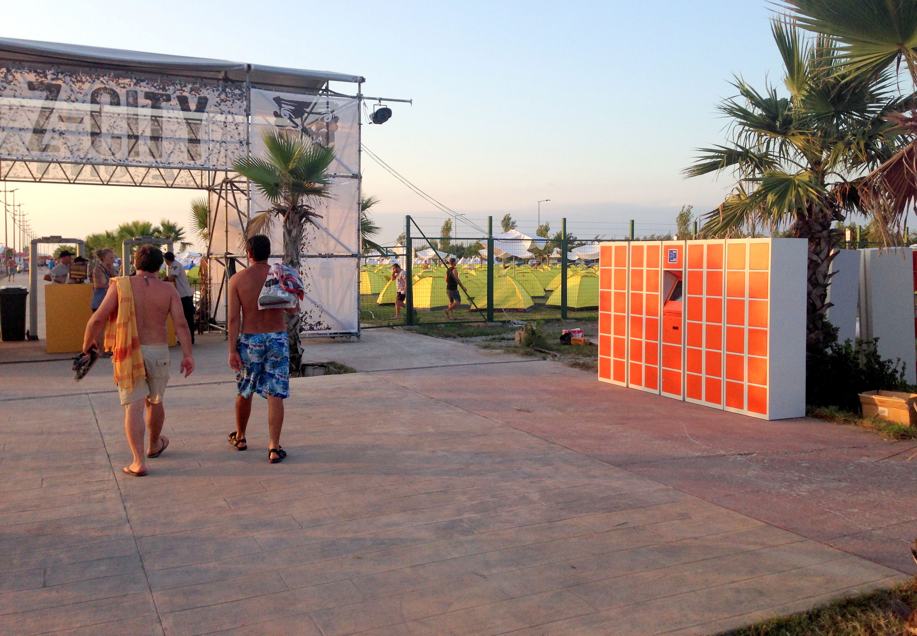 Beach lockers for festival